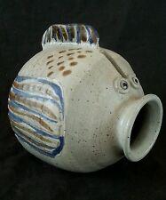 "Vintage studio pottery stoneware fish sculpture 6.25"""