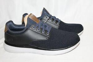 NEW Skechers Streetwear Memory Foam Men's Slip On Shoes Black/Navy Size 11