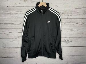 Adidas Originals Mens Black Trefoil Striped Firebird Track Jacket Sz Large NWT