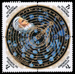 "BURUNDI 433 - Nicolai Copernicus ""Ptolemy and Solar System"" (pb22790)"