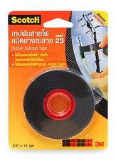 """3M SCOTCH 23 RUBBER SPLICING TAPE HIGH VOLTAGE INSULATING 3/4"""" X 15ft ROLL"""