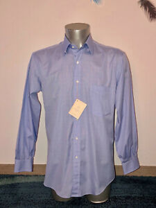 jolie chemise bleue à carreaux ALAIN FIGARET double retors taille 39 (M) NEUVE