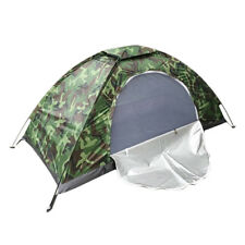 Single Camouflage Tent Waterproof Windproof Shelter Outdoor Camping Hiking