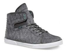 Vans Off the Wall Hadley Chevron Pewter Agate Gray Womens Hi Tops 5 Shoes
