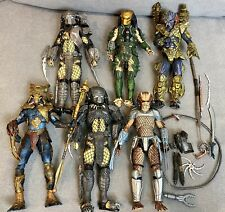 LOT OF 6 PREDATOR / Rare Action FIGURES AND ACCESSORIES BY NECA