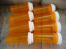 8 Amber Medicine RX PILL BOTTLES Pharmacy Prescription Craft fishing sewing
