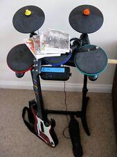 Band Hero Wii-en muy buena condición con-tambores de Guitarra Micrófono, Lego Rock Band, Beatles, Guitar Hero