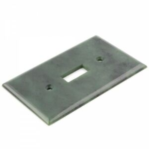 Genuine Natural Green Nephrite Jade Light Switch Plate - Traditional