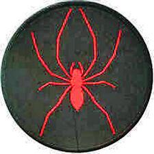 Hierro En / De Coser Parche Bordado Insignia SPIDER Rojo en Negro Círculo