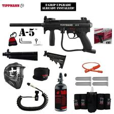 Tippmann A-5 Selector Switch E-Grip Elite Remote HPA Paintball Gun Package