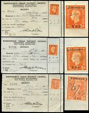 GB KG6 COMMERCIAL OVERPRINTS 1938-43 HORNCHURCH UDC 3 DIFFERENT TYPES...L1
