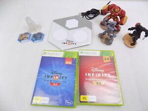 Xbox 360 Disney Infinity 2.0 + 3.0 Bundle Portal+Playset+3x Characters+2 Discs
