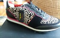 New NIB Coach X Limited Edition Keith Haring Leather Sneaker Size 11B FG1003