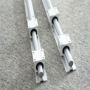 2XSBR16-1500mm Linear Rail Fully Supported Shaft Rod + 4×SBR16UU Bearing Block