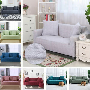 1/2/3/4Seater Soft Sofa Couch Covers Floral Elastic Stretch Slipcover Protector