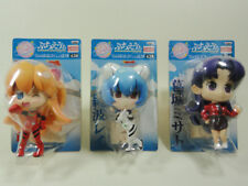NEON GENESIS EVANGELION - COMPLETE SET 3 FIGURE BANPRESTO 2009 - NEW IN BLISTER