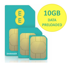 EE 4G Mobile Broadband Multi SIM Card. With 10GB + £10 Credit Data for 30 Days