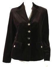 CELINE Dark Brown Cotton Velvet Notched Lapel Button Front Blazer Jacket 40