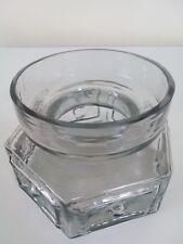 Dartington glass midnight Frank Thrower nipple spot hexagonal vase