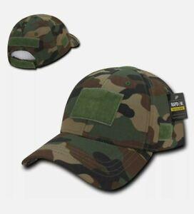 M81 Woodland Camo Tactical Operator Contractor Hook Patch Range Cap Hat