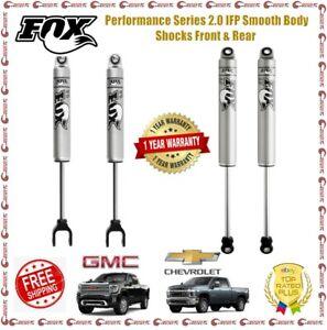 Fox 2.0 IFP Smooth Body Shocks Front / Rear For 18-19 Silverado Sierra 2500 3500