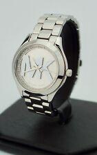 Michael Kors Ladies Mini Slim Runway Stainless Steel Bracelet Watch MK3548, New