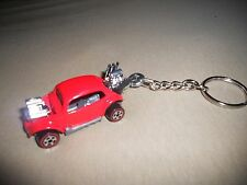 1960's VOLKSWAGEN VW BEETLE BUG HOT ROD DIECAST MODEL TOY CAR KEYCHAIN RED