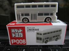 Tomica Taito Prize Half Size P006 London Bus GRAY N Scale 1:160