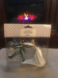 NEW Runaway Soldier Groom Wilton Cake Topper Husband Army Navy Air Force Marines