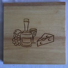 """Wooden 8"""" Square Cheese Cutting Board"""