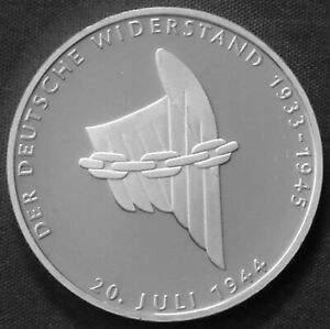 Germany 10 marks Silver Proof 1994 A German Resistance