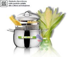 Pentola cuocipasta 2 tipi di pasta e verdure con doppio cestello cestelli
