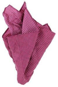 Tommy Hilfiger Mens Red 'Small Polka Dot' 100% Silk Pocket Square 140101