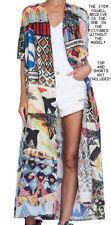 Nwt FUNKY STUFF whimsy kimono rayon ROBE TOP DUSTER COVERUP fits L XL 1X 2X 3X