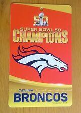 Denver Broncos NFL Super Bowl L 50 Champions 1ft Plastic Wall Sign