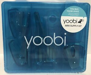 Yoobi Mini Office Supply Kit New Blue Accessories Staple Tape Etc NEW/SEALED