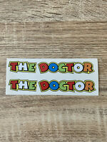 "x2 Stickers style Valentino Rossi "" the doctor ""  autocollants / decals 12cm"
