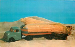 C-1910 Corn Exaggeration Toy Truck Tichnor Postcard 21-1802