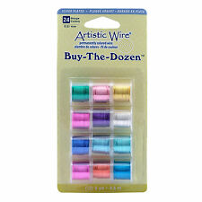 Artistic Wire BUY THE DOZEN 12 pck coloured wire 24g SP