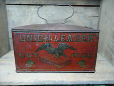 Vintage Union Leader Cut Plug Smoke and Chew Tin