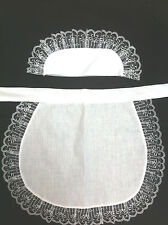 adult piny apron + hat french maid sissy victorian edwardian rocky horror 13w12L