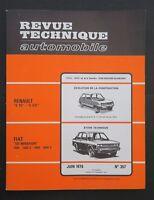 REVUE TECHNIQUE AUTOMOBILE RTA FIAT 131 MIRAFIORI RENAULT 5 n°357