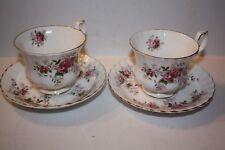 "2 Sets of Royal Albert Bone China Teacup and Saucer "" Lavender Rose"""
