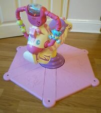 Fisher Price Go Baby Go Bounce and Spin Zebra toy musical bouncer pink
