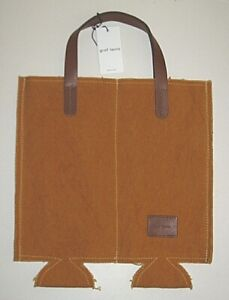 NEW NWT $94 GRAF LANTZ WINE LOVER'S DOUBLE BROWN CANVAS COZY DUO CARRIER BAG