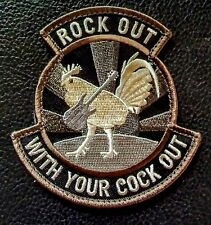 ROCK OUT WITH YOUR COCK OUT US ARMY MORALE MILITARY SWAT HOOK PATCH