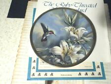 Pickard Ruby Throated Hummingbird & Lillies Plate With Coa Mint In Box