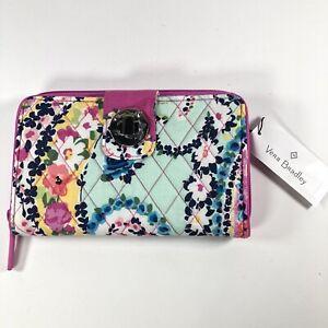 Vera Bradley RFID Turnlock Wallet Wildflower Paisley New With Tags