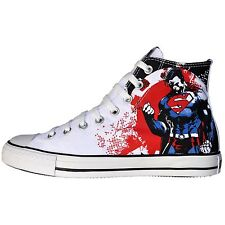 CONVERSE SCHUHE ALL STAR CHUCKS UK 11,5 EU 46 SUPERMAN WEISS ROT MARVEL DC COMIC