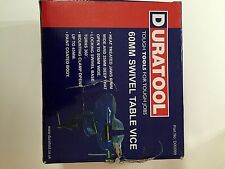 Duratool 60mm Swivel Table Vice D00099